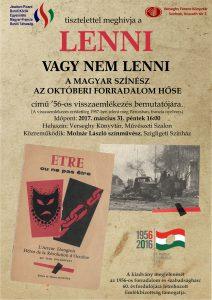 Lenni vagy nem lenni @ Verseghy Ferenc Könyvtár | Szolnok | Magyarország